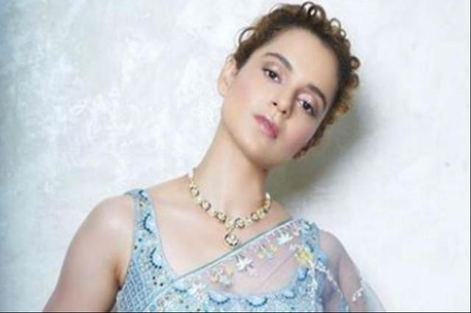 kangana ranaut channels a summer look steps out in a sheer blue