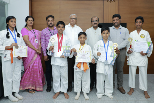 Shakthi Residential School students bags medals