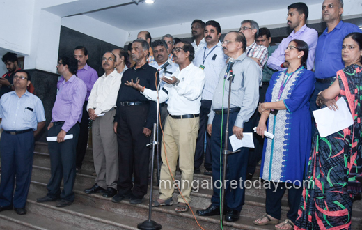 bank staff protest mangalore