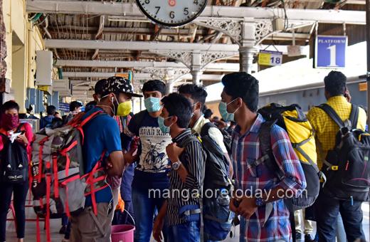 Mangalore railway station corona effect