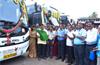 MLA Vedavyas Kamath flagged off service of KSRTC Ambari dream class