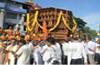 Kukke shrine Brahmaratha leaves Kadri for Subrahmanya