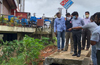 Manipal : DC visits site of multi-storied complex facing collapse  after landslide