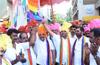 Rajatha Sambhrama of Dr M N Rajendra Kumar : Colourful procession begins