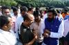 Health Minister Sriramulu visits Pachanady garbage slip site
