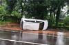 Moodbidri: Speeding car  hits college girls ; 4 injured