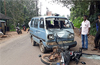 Bike-Omni collision; rider seriously injured
