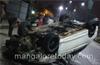 Mangalore: Driver miraculously survives car crash