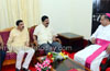 Nalin Kumar Kateel visits Bishop House, seeks blessings of Bishop