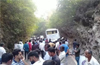 Tourist bus rams into roadside boulder, killing 9 in Karkala