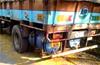 Public intercept fish lorry discharging waste water on road