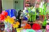 Students in this school create handicrafts using plastic