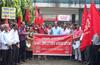 Udupi : Bank employees stage protest against merger