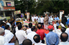 Several organisations protest against Motor Vehicles Act, pathetic highways