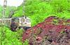 Train services on coast disrupted, heavy rains, landslides