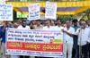Vijaya Bank�s merger sparks protest in city