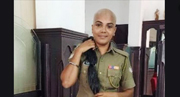 Bald & beautiful: Cop does her bit for cancer patients, wins hearts