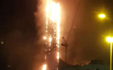 Massive fire at Dubai's Sharjah residential tower, many Indians stranded