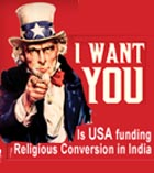 US may be indirectly funding religious conversion in India