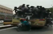 Chennai: Students climb, fall off moving bus while celebrating bus day