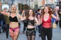 Women march in Dublin wearing underwear to demand rape trial reform
