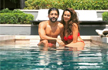 Farhan Akhtar and Shibani Dandekar are giving couple goals in their latest pool picture