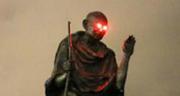 Glowing red eyes seen on Gandhi statue in San Francisco