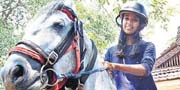 Kerala girl who went to her Board exam riding a horse