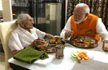 After action-packed day, PM Modi enjoys birthday lunch with mother in Gujarat