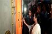 Mamata Banerjee breaks open BJP office, paints party symbol on wall