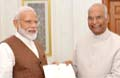 Modi meets President Kovind, stakes claim to form government