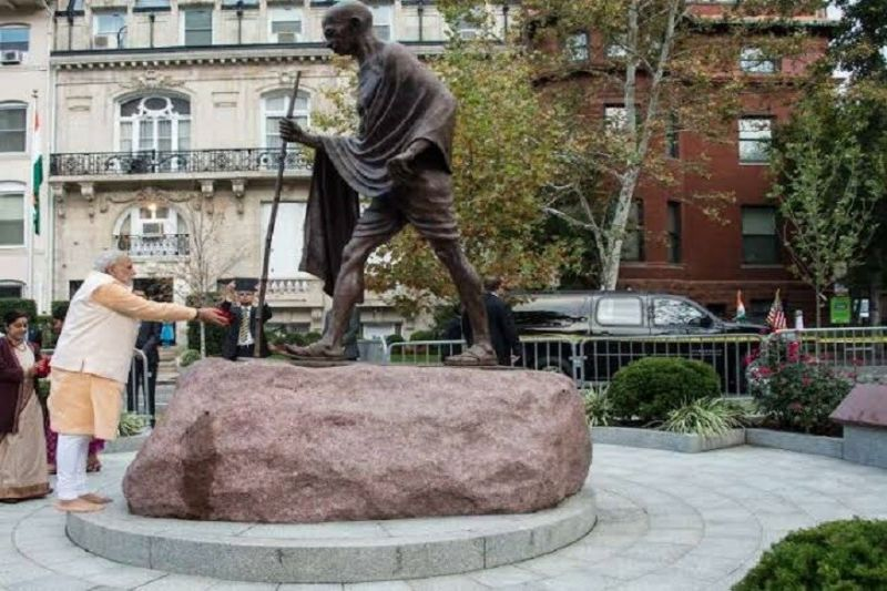 Mahatma Gandhi's statue outside Indian Embassy in Washington desecrated during George Floyd