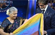 KBC 11: Sudha Murty gifts Amitabh Bachchan a beautiful chadar stitched by Devadasis