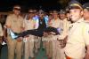 Awkward Pose With Mumbai Police
