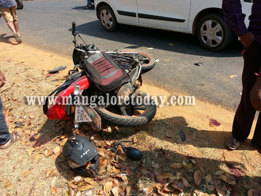 A teenager has lost his life in a Bike-Car mishap at Keddu, Aladangady in Venur here on Monday Feb 15th.