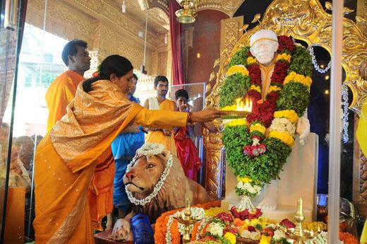 Statue Of Shirdi Sai Baba Installed At Kudroli Temple